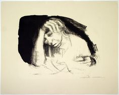 Kathe Kollwitz - charcoal drawings from doctors office during Halocaust- so telling of the moments