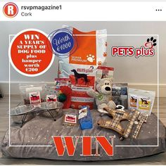LAST CHANCE TO ENTER TO WIN ONE YEARS SUPPLY OF DOG FOOD AND THIS HAMPER ALL WORTH €1000 ! Go to @rsvpmagazine1 Instagram and find this post to enter! Don't forget to follow us and tag a friend ! Chicken Rice, Hamper, Dog Food Recipes, Cereal, Pets, Giveaway, Forget, Instagram, Amazing