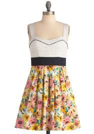 White top Yellow floral skirt