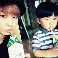 Jeongmin and a cute Lil boy