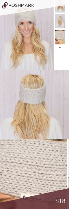 Coming Friday! Knitted Twist Headband is Gray Perfectly designed for all day wear. Moisture wicking and and wide coverage for elegant hair styles while keeping you cozy and warm. Three Bird Nest Accessories Hair Accessories