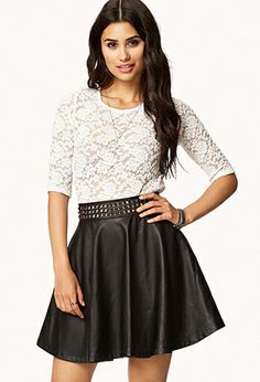 Bow Back Lace Top   FOREVER21 - 200293034 Love the outfit