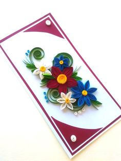 Quilling card, Birthday card, Mother's Day card, Wedding card by PaperMagicByJR on Etsy