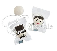 Chewing Gum Sposa e Sposo (36pz) - Prodotti per Addobbi Cerimonia - Altro - accessori e gadget per matrimoni e feste - E-speciale