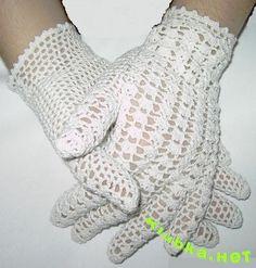 WooHoo! Got it to translate! :D  White crochet gloves