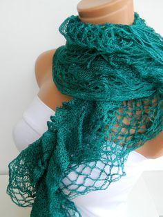 Latest Fashion filet knit dark mint turquoise by WomanStyleStore, $19.00