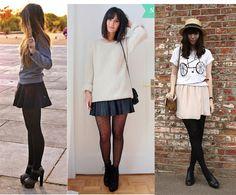 Top Six: 6 saias de cintura alta + meia-calça