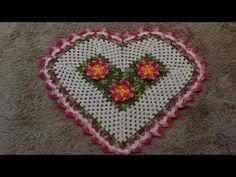 ▶ Passo a passo Tapete Coração em Crochê Parte-1 - YouTube