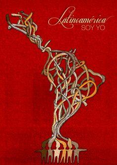 LATINOAMERICA SOY YO, participation by Metroymedio Almacén de Ideas , via Behance Latin America, South America, Geniale Tattoos, American Art, Tatoos, Arts And Crafts, Drawings, Illustration, Painting