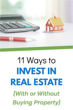 11 Ways to Invest in Real Estate (With or Without Buying Property) - Personal Finance Tips & Ideas - investment Investment Tips, Investment Portfolio, Investment Property, Home Buying Tips, Money Saving Tips, Money Tips, Early Retirement, Retirement Planning, Retirement Money
