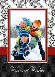 Mixbook Elegant Snowflakes Holiday Photo Cards