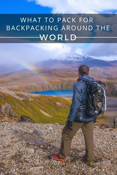 The Real Guide For What To Pack For Backpacking Around The World. Going travelling then this is all you will need to carry with you. From 19 years of adventure experience all over the world.