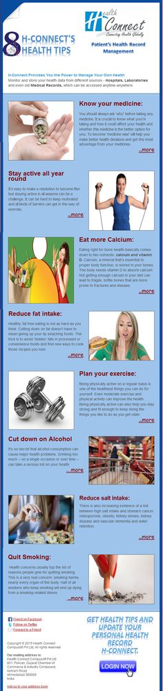 H-connect's 8  #Health #Tips !!   www.hconnect.co.in