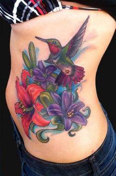 MD Tattoo Studio : Tattoos : Coverup : Hummingbird and Lily tattoo 3d Tattoos, Cover Up Tattoos, Trendy Tattoos, Sleeve Tattoos, Tattoos For Women, Tatoos, Tattoos 2014, Colorful Tattoos, Badass Tattoos