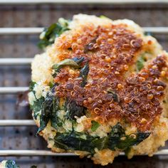 QUINOA + KALE PATTIES- I made it with nutritional yeast instead of parmesan- YUM