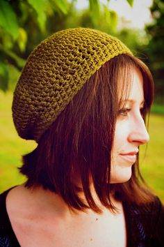 Women's Slouchy Beanie  Green by OliJAccessories on Etsy, $20.00