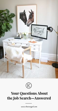 The Everygirl Co-founder Danielle Moss' Chicago Apartment Tour Office Furniture, Office Decor, Office Ideas, Office Inspo, Office Workspace, Pottery Barn Desk, Interior Design Chicago, Interior Ideas, Interior Inspiration