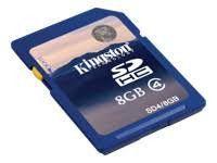 Kingston SDHC 8 GB Memory Card