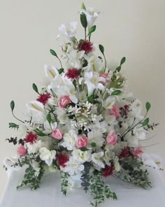 Artificial Floral Arrangements For Interior Decor: White Artificial Floral…