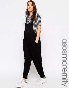 Image 1 of ASOS Maternity Dungaree Jumpsuit In Jersey