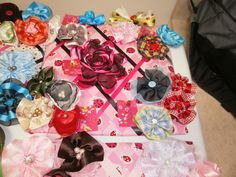Along with the clips I learned how to make memory boards, the lady bug ones I have given to people having baby girls