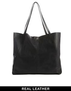ASOS Leather Floppy Shopper Bag
