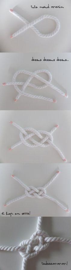 Tuto Noeud Marin pour un bracelet