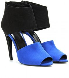 Pierre Hardy Two Toned Suede Peep-Toe Pumps - Polyvore