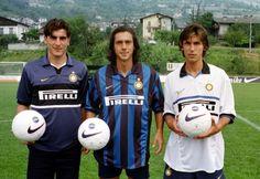 Paulo Sousa, Pirlo and Ventola #calcio #internazionale #calcio #intermilan