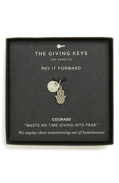The Giving Keys 'Courage - Belief Collection' Charm