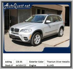 2012 BMW X5 xDrive35i SUV  Door Pockets: Driver, Daytime Running Lights, Max Cargo Capacity: 75 Cu.Ft., Vehicle Emissions: Ulev Ii, Tachometer, Passenger Airbag, Three 12V Dc Power Outlets, Tires: Prefix: P, Cornering Lights, Power Remote Driver Mirror Adjustment, Front Ventilated Disc Brakes, Bluetooth Wireless Phone Connectivity, Overall Width: 76.1, Rear Head Room: 39.3