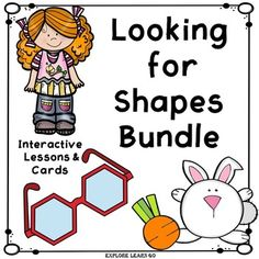 Have fun with this Bundle of hands-on lessons, interactive math cards, and book templates for shapes.  The Bundle includes Shapes Fun featuring a bunny and carrot theme and   Looking for Shapes Interactive Math Cards & Lessons.  These cards and activities may be added to your Sensorial or Math area.
