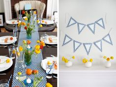 love the colors and polka dots on this table