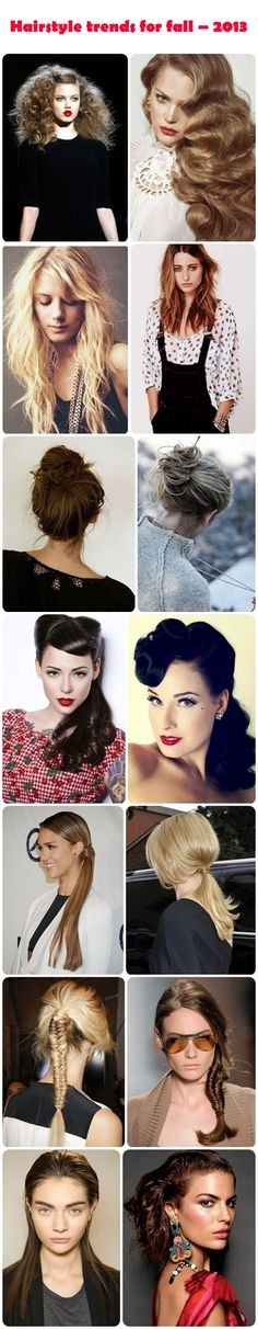 Hairstyle trends for fall 2013