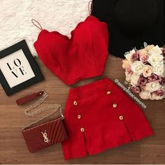 Crop Top Outfits, Casual Skirt Outfits, Cute Summer Outfits, Classy Outfits, Stylish Outfits, Dress Outfits, Teen Fashion Outfits, Outfits For Teens, Girl Outfits