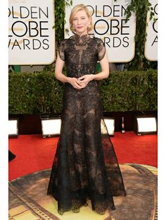 Adore her: Cate Blanchett in Armani Privé - Golden Globes 2014 | ELLE NL