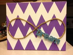 Infinity and chevron dorm decoration-different colors and string but adorable!