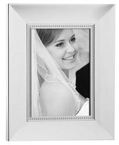 "Would love some nice picture frames for our wedding photos! #SantaPakSweeps Lenox Picture Frame, Jubilee Pearl 8"" x 10"" - Picture Frames - For The Home - Macy's"