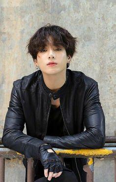 Okay but, this Jungkook with a leather jacket? Bts Taehyung, Jungkook Cute, Jungkook Fanart, Jungkook Oppa, Bts Bangtan Boy, Foto Bts, Jung Kook, Busan, Jikook