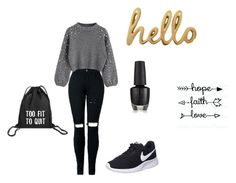 """""""Hello 🖐🖐🏻"""" by djenine-declercq on Polyvore featuring mode, NIKE en Bombay Duck"""