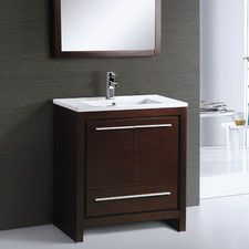 "Alexa 30"" Single Bathroom Vanity Set with Mirror"