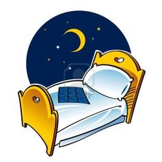 clip night bed clipart sleep dream rest cool tweety beds coloring pillow moon blanket going
