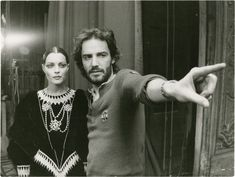 "Andrzej Zulawski and Romy Schneider on the set of ""That Most Important Thing: Love"""