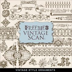 Far Far Hill: New Freebies Kit - Vintage Style Ornaments. Click on link for freebie http://farfarhill.blogspot.ca/2013/06/new-freebies-kit-vintage-style-ornaments.html?m=1
