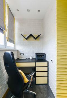 Apartament de 2 camere amenajat modern cu accente de galben - imaginea 20