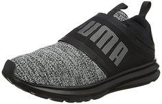 Puma Enzo Strap Knit, Chaussures Basket  Multisport Outdoor Femme, noir et gris ou violet. EUR 79,95
