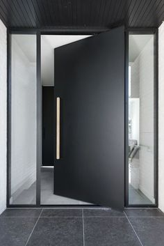 Exterior pivot doors are a perfect way to make a grand entry for any residence or building. Pivot doors can be made fully weatherproof.