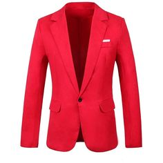GARSEBO Men's Casual Dress Suit Slim Fit Stylish Blazer Coats Jackets ($15) ❤ liked on Polyvore featuring men's fashion, men's clothing, men's sportcoats, slim fit mens clothing, mens slim fit blazers, mens clothing, men's apparel and men's sportcoats and blazers