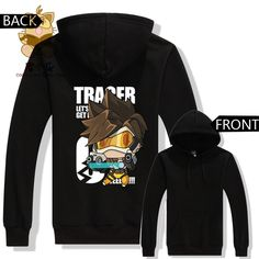 Overwatch Tracer Chibi Pullover Hoodie