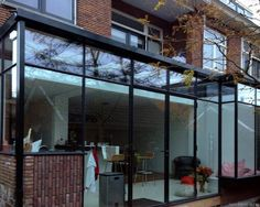 Garden Room Extensions, House Extensions, Conservatory Kitchen, Glass Extension, Steel Stairs, Asian Interior, Glass Room, Inside Doors, Indoor Outdoor Living